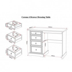 Corona mexican 4 Drawer Dressing Table
