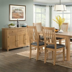 Burford oak dining set