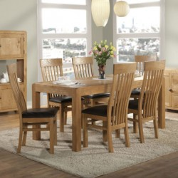 Clevedon oak dining set