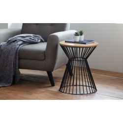 Jersey round wire lamp table