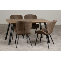 Quebec wave dining set