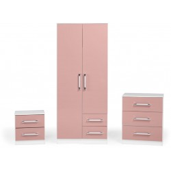 The Jasper bedroom set in pink