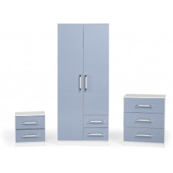 The Jasper bedroom set in blue
