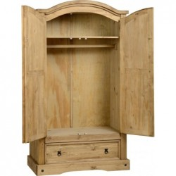 Corona  mexican 2 Door 1 Drawer Wardrobe