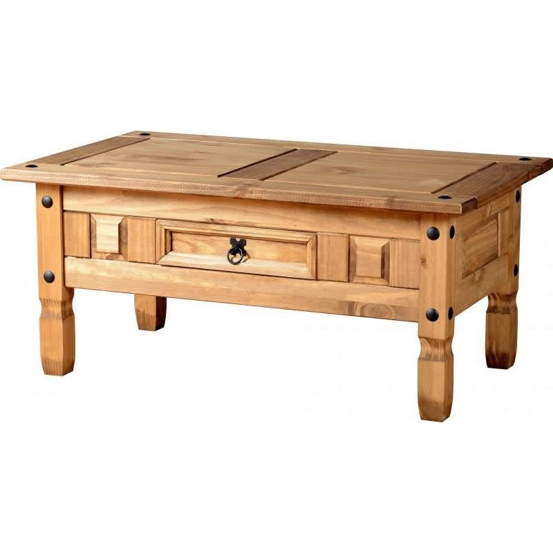 Corona 1 Drawer Coffee Table Seconique flat packed furniture