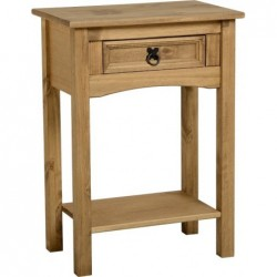 Corona 1 Drawer Console Table with Shelf Seconique flat packed furniture