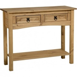 Corona 2 Drawer Console Table with Shelf Seconique flat packed furniture