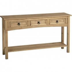 Corona 3 Drawer Console Table with Shelf Seconique flat packed furniture