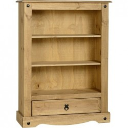 Corona 1 Drawer Bookcase Seconique flat packed furniture