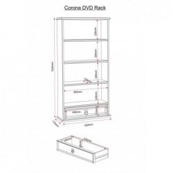 Corona 1 Drawer DVD Rack telford shrewsbury