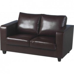 Tempo 2 seater sofa in faux leather