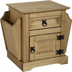 Corona 1 Drawer Magazine Table Seconique flat packed furniture