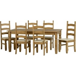 Seconique Corona 6 foot Dining Set
