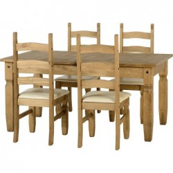 Corona Extending Dining Set (1  plus  4)
