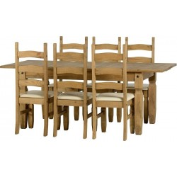 Corona Extending Dining Set (1  plus  6)
