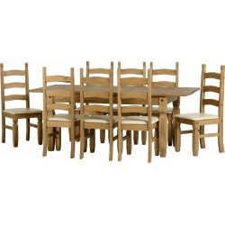 Corona Extending Dining Set (1  plus  8)