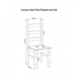 Corona Chair (SINGLE CHAIR) in distressed wax pine