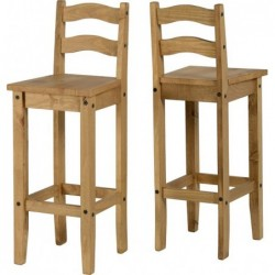 Seconique pine Corona Bar Chair (PAIR)