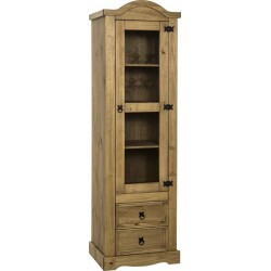 Seconique Corona 1 Door 2 Drawer Glass Display Unit