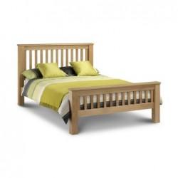 Julian Bowen Amsterdam Oak Bed High Foot End 135cm