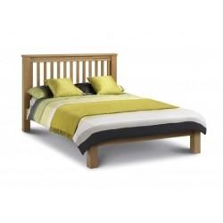 Julian Bowen Amsterdam Oak Bed Low Foot End 135cm