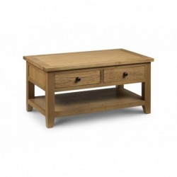 Julian bowen Astoria Coffee Table with 2 Drawer