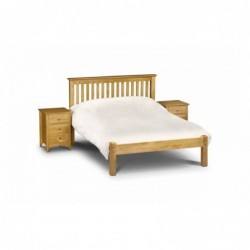 Julian Bowen Barcelona Bed Low Foot End   Solid Pine  Antique Finish 90cm