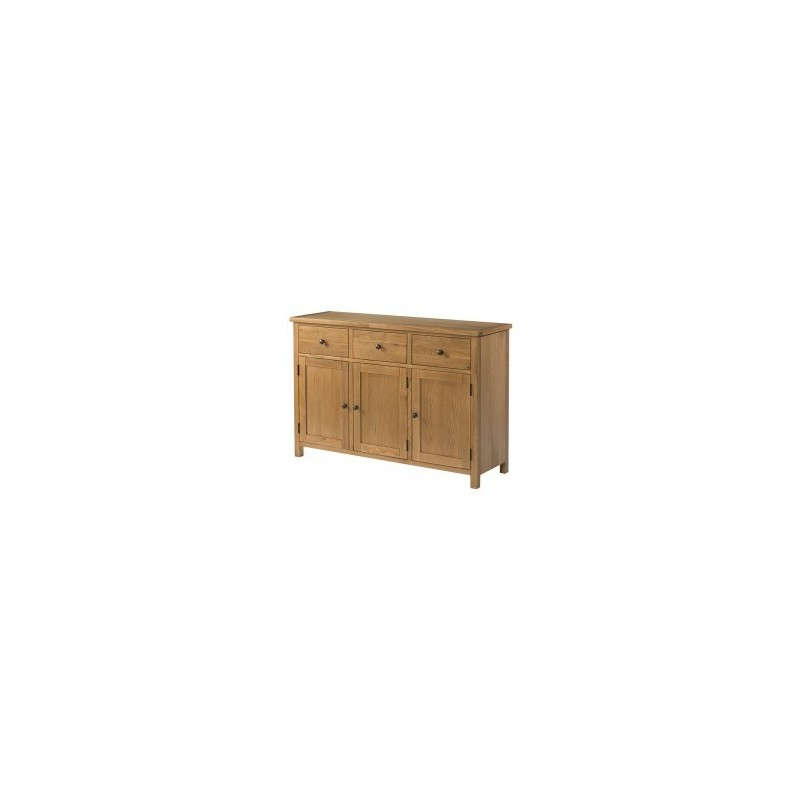 Burford Oak Sideboard With 3 Doors And 3 Drawers