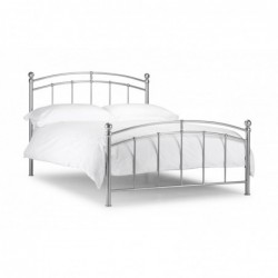 Julian Bowen Chatsworth Bed  Bright Aluminium 135cm
