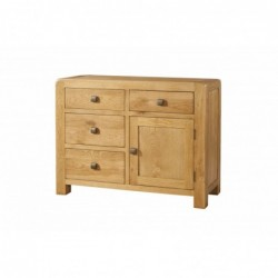 Devonshire Pine and Oak Ready assembled Avon Oak SMALL SIDEBOARD 4 DRAWER 1 DOOR DAV004
