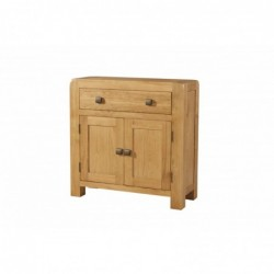 Devonshire Pine and Oak Ready assembled Avon Oak COMPACT SIDEBOARD 1 DRAWER 2 DOOR DAV005