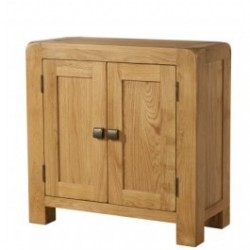Devonshire Pine and Oak Ready assembled Avon Oak SMALL CABINET 2 DOOR DAV007