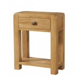Devonshire Pine and Oak Ready assembled Avon Oak SMALL CONSOLE 1 DRAWER AND SHELF DAV011