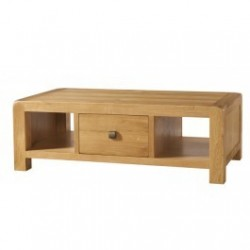 Devonshire Pine and Oak Ready assembled Avon Oak LARGE COFFEE TABLE WITH DRAWER DAV012