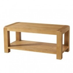 Devonshire Pine and Oak Ready assembled Avon Oak COFFEE TABLE WITH SHELF DAV013