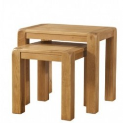 Devonshire Pine and Oak Ready assembled Avon Oak NEST OF TABLES DAV014