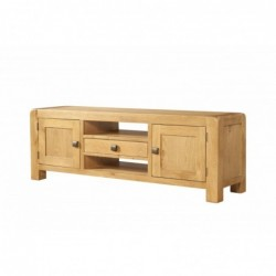 Devonshire Pine and Oak Ready assembled Avon Oak WIDE TV UNIT DAV016