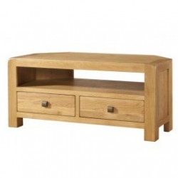 Devonshire Pine and Oak Ready assembled Avon Oak CORNER TV UNIT DAV018