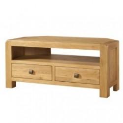 Devonshire Pine and Oak Ready assembled Avon Oak CORNER TV UNIT DAV018