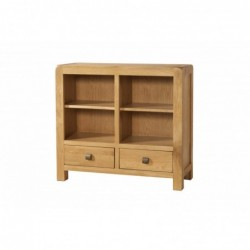 Devonshire Pine and Oak Ready assembled Avon Oak LOW BOOKCASE 2 DRAWERS DAV020