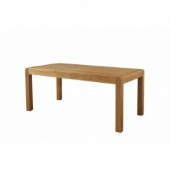 Devonshire Pine and Oak Ready assembled Avon Oak FIXED TOP DINING TABLE 180 x 90 DAV024