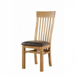 Devonshire Pine and Oak Ready assembled Avon Oak CURVED BACK CHAIR DAV025