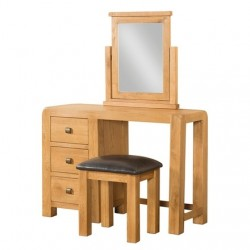 AVON OAK DRESSING TABLE and STOOL DAV033
