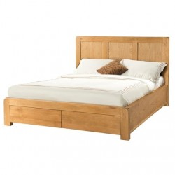 AVON OAK 4 foot 6 inches BED WITH 2 STORAGE DRAWERS DAV038