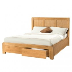 AVON OAK 5 foot BED WITH 2 STORAGE DRAWERS DAV039
