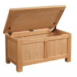 Devonshire Pine and Oak Ready assembled Dorset Oak  BLANKET BOX DOR021