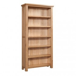 Devonshire Pine and Oak Ready assembled Dorset Oak 6 foot BOOKCASE DOR063