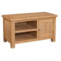 Devonshire Pine and Oak Ready assembled Dorset Oak STANDARD TV UNIT DOR071