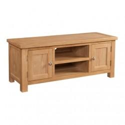 Devonshire Pine and Oak Ready assembled Dorset Oak LARGE TV UNIT DOR072