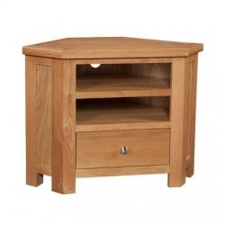 Devonshire Pine and Oak Ready assembled Dorset Oak CORNER TV UNIT DOR073